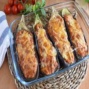 Berenjenas queso y jamón